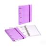 Dossier de Cartão A4 C/elástico com 100 folhas pautadas - Dossier de Cartão A4 C/elástico e 100 folhas pautadas Lilás Pastel