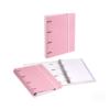 Dossier de Cartão A4 C/elástico com 100 folhas pautadas - Dossier de Cartão A4 C/elástico e 100 folhas pautadas Rosa Pastel