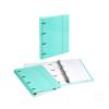Dossier de Cartão A4 C/elástico com 100 folhas pautadas - Dossier de Cartão A4 C/elástico e 100 folhas pautadas Verde Pastel