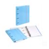 Dossier de Cartão A4 C/elástico com 100 folhas pautadas - Dossier de Cartão A4 C/elástico e 100 folhas pautadas Azul Pastel