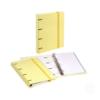 Dossier de Cartão A4 C/elástico com 100 folhas pautadas - Dossier de Cartão A4 C/elástico e 100 folhas pautadas Amarelo Pastel