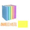 Dossier de Cartão A4 de 2 Argolas 2/25mm Soft Carchivo - Dossier de Cartão A4 2/25mm Soft Carchivo Amarelo Pastel
