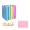 Dossier de Cartão A4 de 2 Argolas 2/25mm Soft Carchivo - Dossier de Cartão A4 2/25mm Soft Carchivo Rosa Pastel