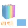 Dossier de Cartão A4 de 2 Argolas 2/25mm Soft Carchivo - Dossier de Cartão A4 2/25mm Soft Carchivo Azul Pastel
