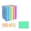 Dossier de Cartão A4 de 2 Argolas 2/25mm Soft Carchivo - Dossier de Cartão A4 2/25mm Soft Carchivo Verde Pastel