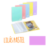 Pasta de arquivo com argolas A4 c/40 micas e envelope - Pasta de arquivo com argolas A4 c/40 micas e envelope - Lilás Pastel