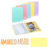 Pasta de arquivo com argolas A4 c/30 micas e envelope - Pasta de arquivo com argolas A4 c/30 micas e envelope - Amarelo Pastel