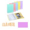 Pasta de arquivo com argolas A4 c/30 micas e envelope - Pasta de arquivo com argolas A4 c/30 micas e envelope - Lilás Pastel
