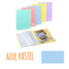 Pasta de arquivo com argolas A4 c/20 micas e envelope - Pasta de arquivo com argolas A4 c/20 micas e envelope - Azul Pastel