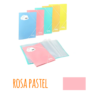 Pasta de elásticos c/40 Bolsas - Pasta de elásticos c/40 Bolsas - Rosa Pastel