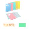 Pasta de elásticos c/40 Bolsas - Pasta de elásticos c/40 Bolsas - Verde Pastel