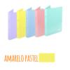 Dossier A4 em polipropileno extra forte de 2 argolas - Dossier A4 em polipropileno extra forte de 2 argolas - Amarelo Pastel
