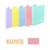 Dossier A4 em polipropileno extra forte de 2 argolas - Dossier A4 em polipropileno extra forte de 2 argolas - Rosa Pastel