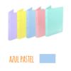 Dossier A4 em polipropileno extra forte de 2 argolas - Dossier A4 em polipropileno extra forte de 2 argolas - Azul Pastel