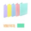 Dossier A4 em polipropileno extra forte de 2 argolas - Dossier A4 em polipropileno extra forte de 2 argolas - Verde Pastel