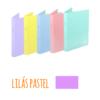 Dossier A4 em polipropileno extra forte de 2 argolas - Dossier A4 em polipropileno extra forte de 2 argolas - Lilás Pastel