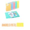 Pasta com etiqueta de elásticos A4 - Pasta com etiqueta de elásticos A4 - Amarelo Pastel