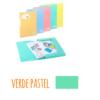 Pasta com etiqueta de elásticos A4 - Pasta com etiqueta de elásticos A4 - Verde Pastel