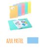 Pasta com etiqueta de elásticos A4 - Pasta com etiqueta de elásticos A4 - Azul Pastel