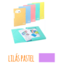 Pasta com etiqueta de elásticos A4 - Pasta com etiqueta de elásticos A4 - Lilás Pastel